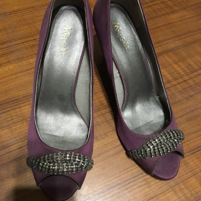 Misssofi楔型高跟鞋36.5