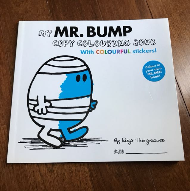 Mr Bump story with copy colouring book