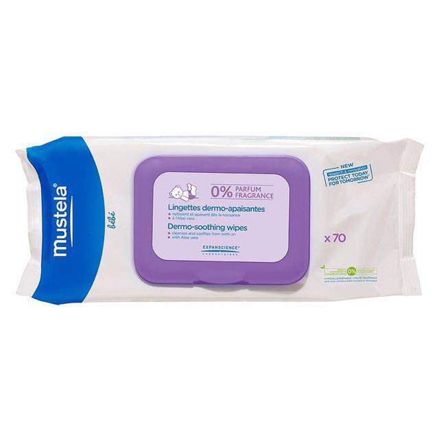 Mustela Dermo-Soothing Wipes Fragrance-Free x70
