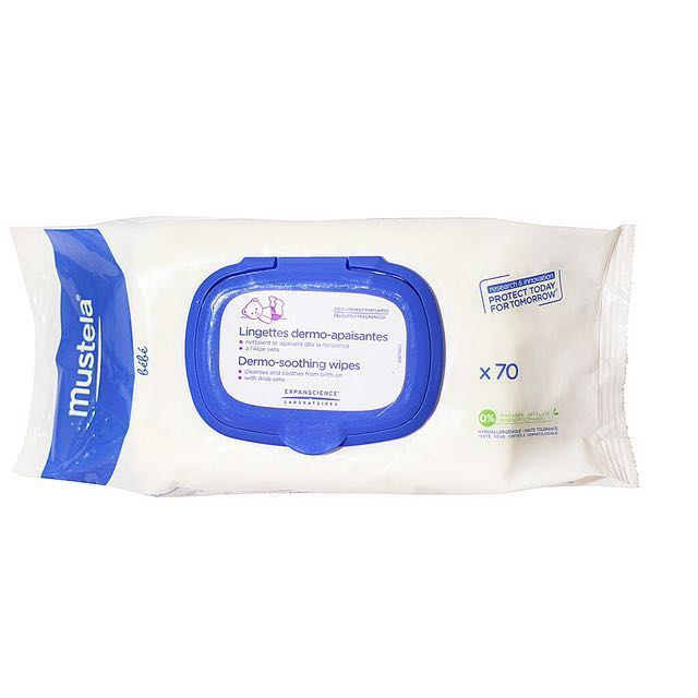 Mustela Dermo-Soothing Wipes with Fragrance x70