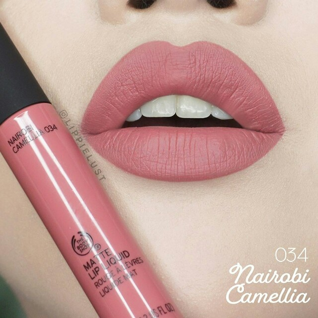 Nairobi Camellia Matte Lip Liquid The Body Shop