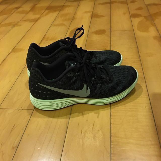 Nike Wmns Lunartempo 2LB 黑粉綠 us8.5 九成五新