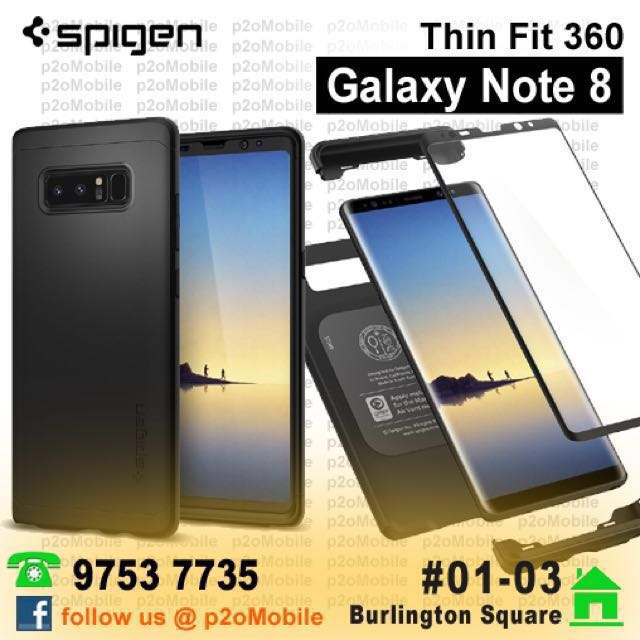 buy popular 23e19 17080 [Note 8] Spigen Thin Fit 360 for Galaxy Note 8