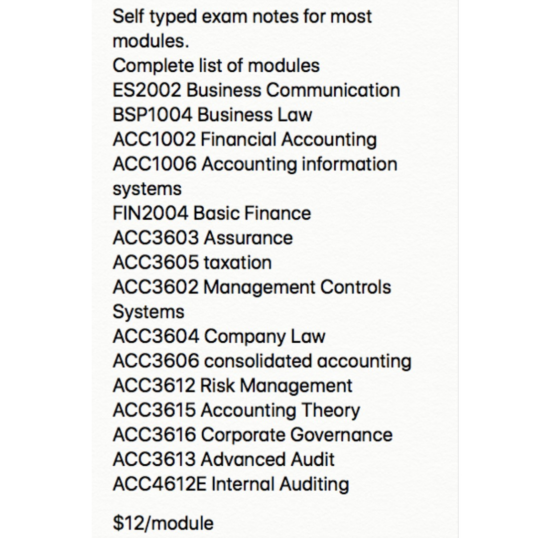 NUS Accountancy self-made notes for sale, Books & Stationery