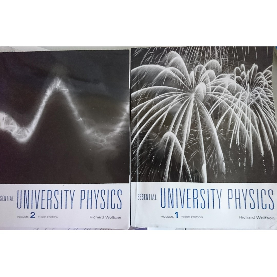 {PHY131/132] Physics Textbook: Essential University Physics, Volume 1 and 2 Third Edition, Richard Wolfson