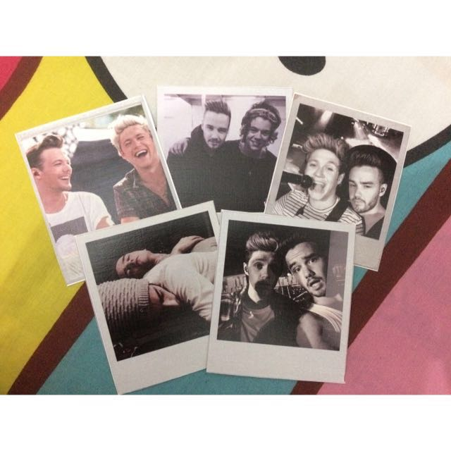 Polaroid One Direction Niall Liam Harry Louis
