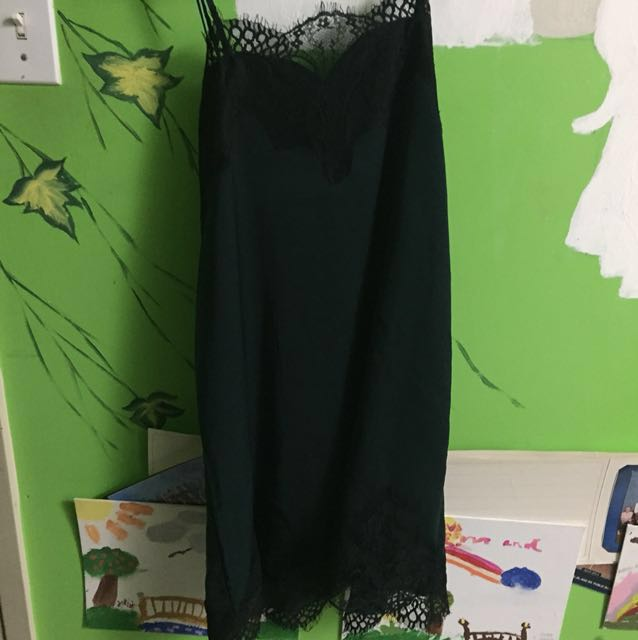 *Price Reduced* M Boutique Green Lace Slip Dress