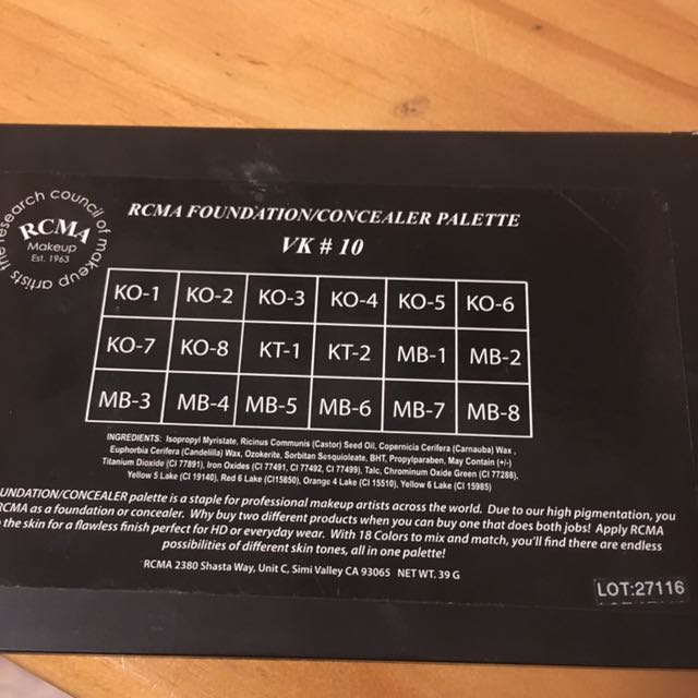Professional Foundation Palette- $50 with express postage