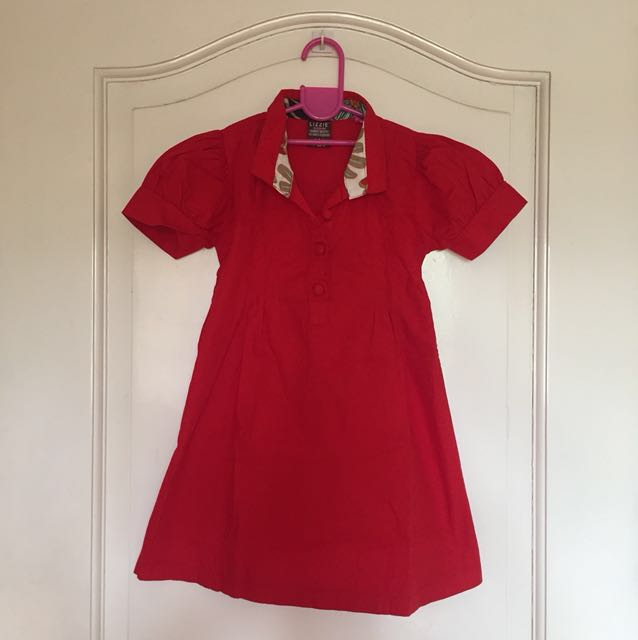 Red Long Blouse/ Dress