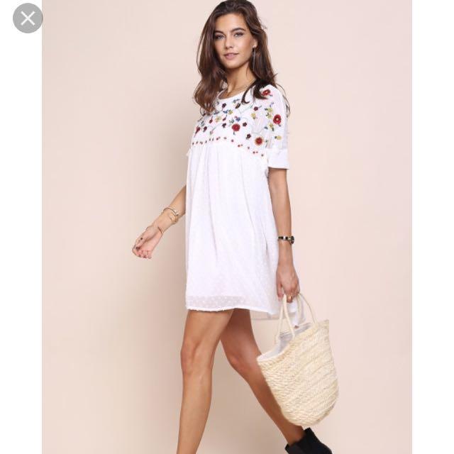 ecbaf5afe042 Rhea Floral Babydoll Dress