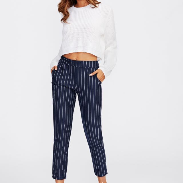 Romwe Striped Pants