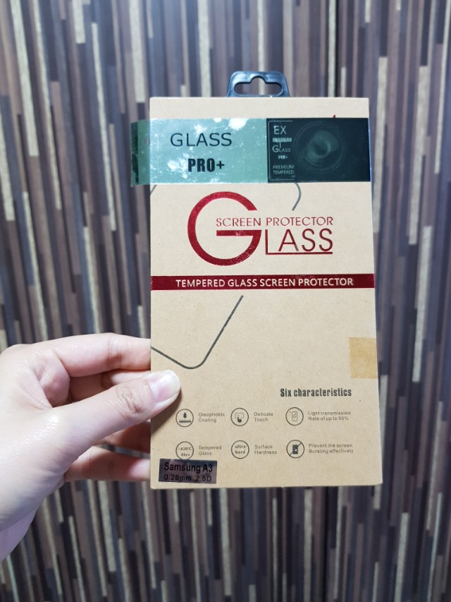 Samsung A3 Tempered Glass Screen Protector