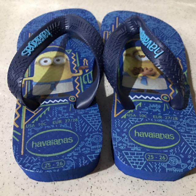 Sandal havaianas minion