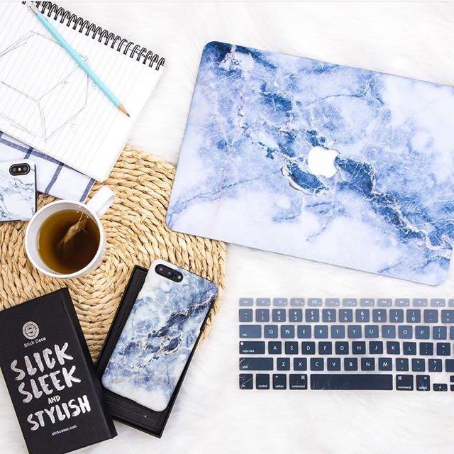 Slick Case 大理石 MacBook Pro Retina 13吋 A1425/A1502電腦殼+手機殼+鍵盤膜