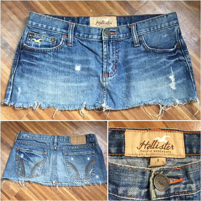 Tattered denim skirts