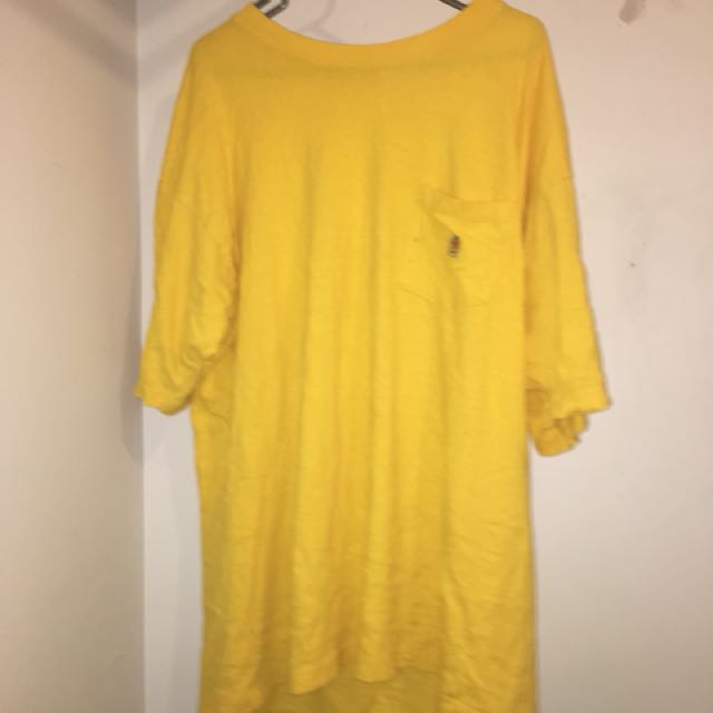 tommy hilifiger mustard yellow tee