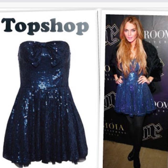 Topshop Dress as seen on Lindsay Lohan