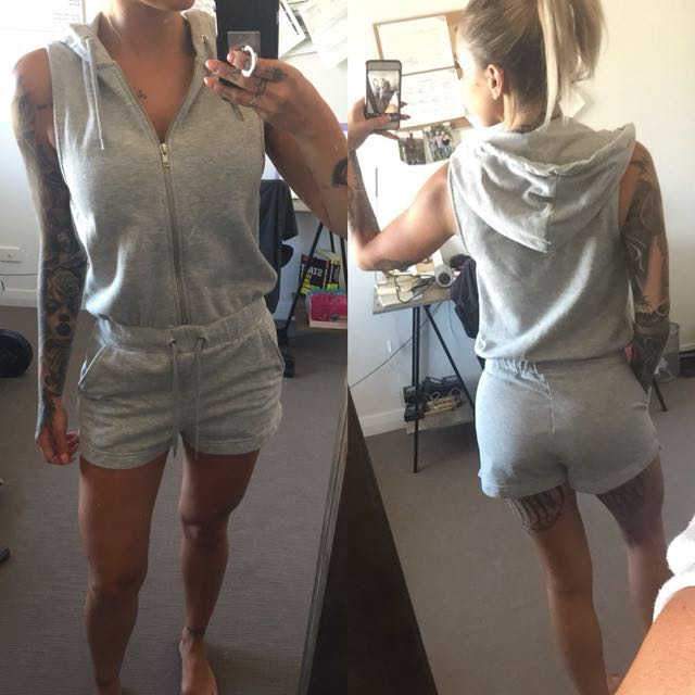 Topshop Hoody Casual Lounge Playsuit