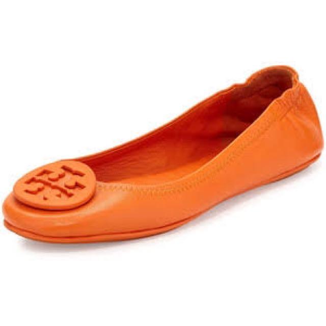 Tory Burch Orange Ballet Flats