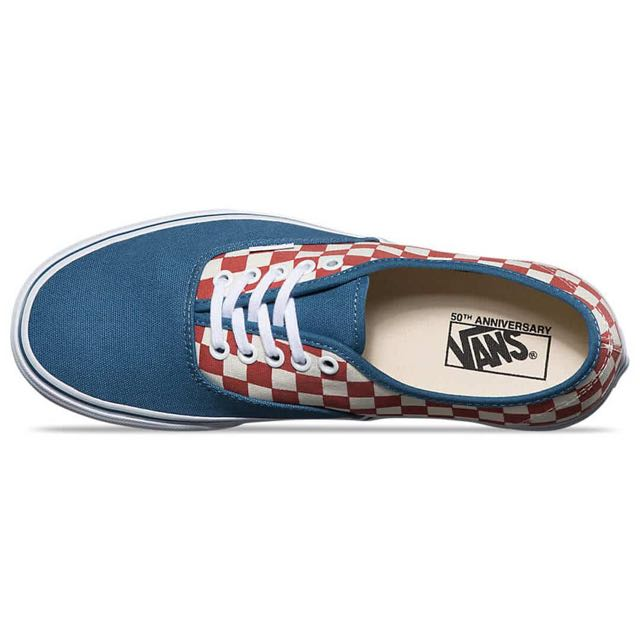 80575d78e0 Vans Authentic 50th Anniversary (Checkerboard   Blue Ashes)