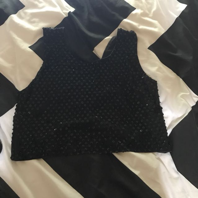 Vintage Sequinned Party Top