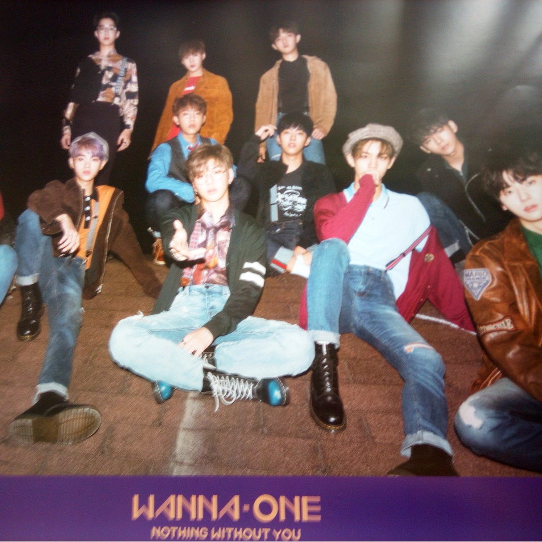 WANNA ONE POSTERS unfolded