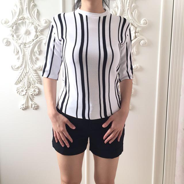 White & Black stripes sweater