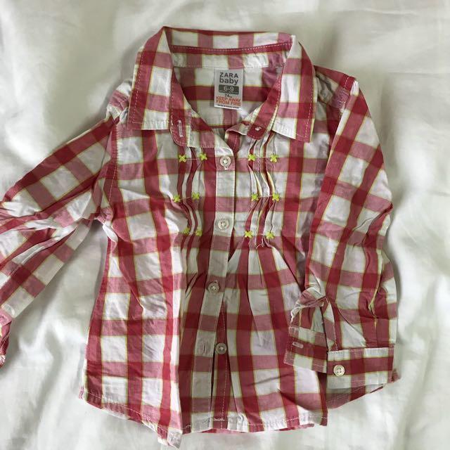 715798cd5 Zara baby girl shirt, Babies & Kids, Girls' Apparel on Carousell