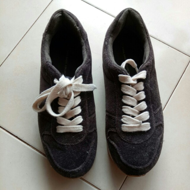 Zara Basic Collection Suede Sneakers - Black