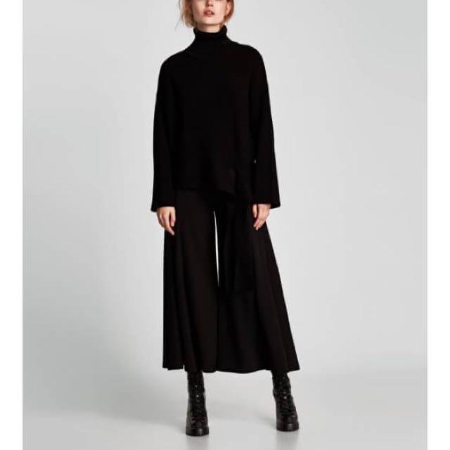 Zara Wide Leg Trousers Pants