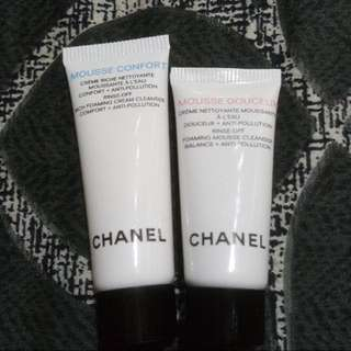 Authentic BN Chanel Cream Cleanser 10ml and Mousse cleanser 5ml
