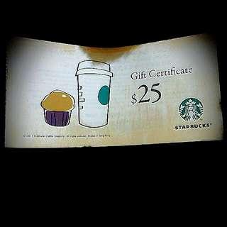 Starbucks gift certificates