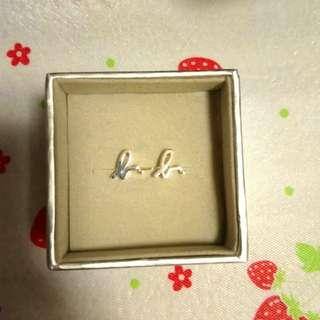 agnes b 925純銀logo earring