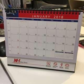 2018座枱月曆