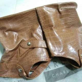 Charles & Keith Brown Leather Bag