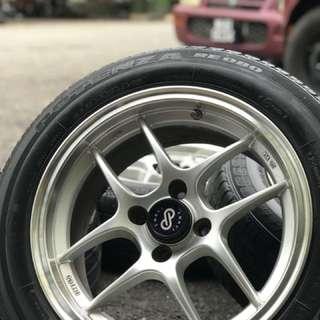 Enkei cps 15 inch sports rim vios tyre 70%