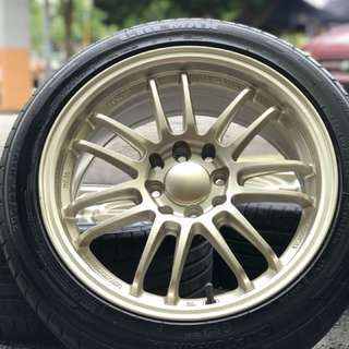 Re30 thailand 16 inch sports rim myvi tyre 80%