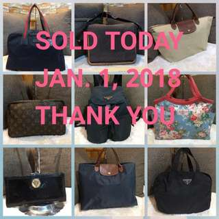 JAN. 1,18 SOLD ITEMS