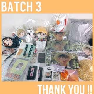 BATCH 3 ARRIVALS!!! BTS EXO WANNA ONE TWICE