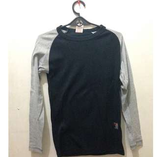black and gray raglan