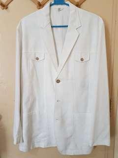 Onesimus Slim Fit White Coat