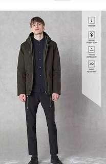 北歐系 ELVINE AW17 瑞典 簡約風 冬季 墨綠大衣外套