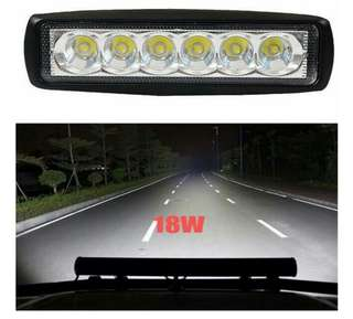 2pcs 18W Flood LED Light Work Bar Lamp Driving Fog Offroad SUV 4WD Car Boat Truck Motorcycle