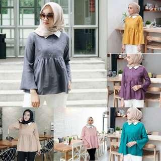 Maika Top / blouse (grey,pink,milo,purple,tosca,mustard)