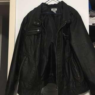 Unisex vintage leather jacket