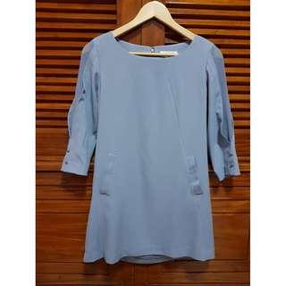 Maldita blue mini dress (pantone 2717)