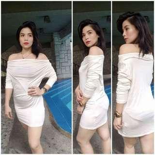 White Off shoulder Dress Top