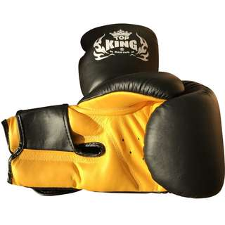 Top King Gloves Size 10 oz for Training and Sparring; Muay Thai, Boxing, Kickboxing, MMA (Used)