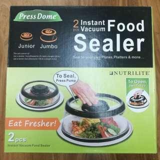 BN PressDome Food Cover / Sealer 2-piece Set