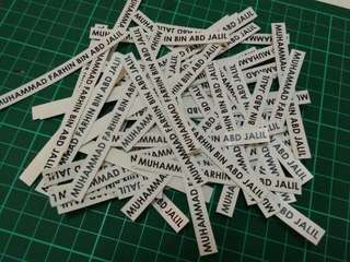 Sticker Nama